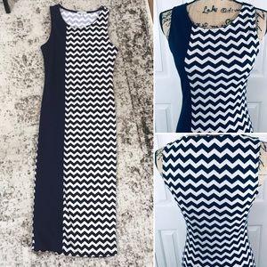 Charlotte Russe Body-con Chevron Maxi Dress